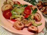 Sült csirkemell karikák-mediterrán salátával és narancsos öntettel3 másolata