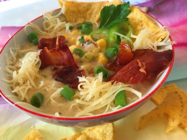 Minden íz, amit szeretsz: Mexikói kukoricaleves baconnal és sajttal